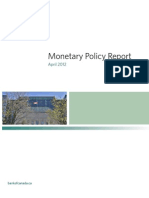 Bank of Canada Monetary Policy Report - April 2012