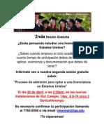 2nda Sesion Gratuita EducationUSA