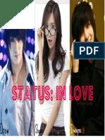 Status; In love. ♥