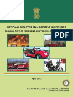 NDMA Guidelines for Scaling, Type of Equipment and Training of Fire Services - Naresh Kadyan
