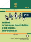 NDMA Guidelines for Hand Book for Training and Capacity Building of Civil Defence and Sister Organisations