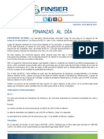 Finanzas al Día 18.04.12