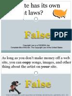 Copyright Quiz Power Point