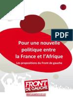 Pour une nouvellepolitique entrela France et l'Afrique