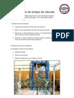 valvulas Banco de ensayo de válvulas practica