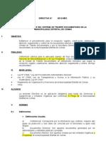 Directiva Propuesta Sistema Tramite Document a Rio Mdc 2012