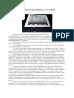 Jobs Returns to Introduce a New iPad