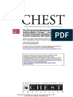 The Perioperative Management of Anti Thrombotic Therapy - American College of Chest Physicians Evidence-Based Clinical Practice Guidelines - 8th Edition
