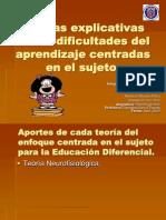 Teorías explicativas de las dificultades del aprendizaje centradas