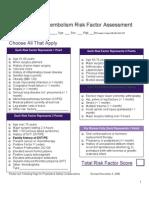 Caprini VT Risk Factor Assessment