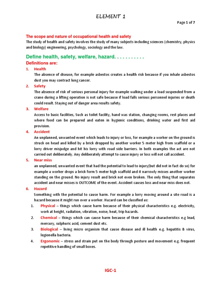 unit igc3 practical application report Igc3 - the health and safety practical application student name: ajit kumar proper lifting practice should be prepared and should be followed by all personnel long term: one week regularly.