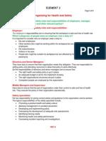 Nebosh IGC Element 3. Organizing Health and Safety (Notes)