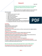 Nebosh IGC Element  6 Principles of Control (Notes)