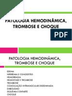 PATOLOGIA HEMODINÂMICA, TROMBOSE E CHOQUE