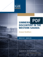 Simmering Discontent in the Western Sahara