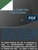 22 Kal Clami Hna Philhlonak