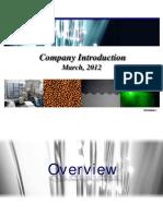 QD Laser - Company Intro Pres'n (16 Pp)