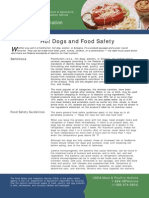 Hot Dogs and Food Safety