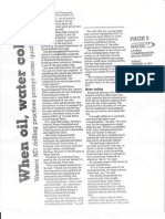 When Oil, Water Collide (Fargo Forum)