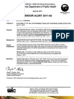 WIC Vendor Alert 2011 05