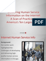 Delivery of Human Service Information on the Internet