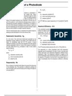 APP Photo Diode Characteristics