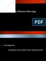 How to Write Effective Web Copy E 1 First