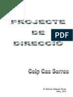 PROJECTE_DIRECCIÓ CEIP CAS SERRES MARÇ 2012