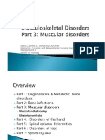 Musculoskeletal Disorders Part 3 Muscular Disorders