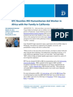 03-29 KFC Reunites IRD Humanitarian Aid Worker in Africa with Her Family in California