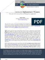 The Peace Process & Afghanistan's Women