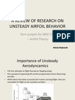 A Review of Research on Unsteady Airfoil Behavior
