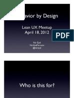 Lean UX Meetup SF