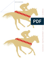 HWTM DerbyPrintables Large Horses Tan1
