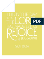 Psalm 118 in Yellow From The Flourishing Abode