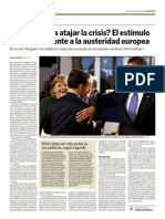 El estímulo americano frente a la austeridad europea