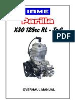 Parilla x30 Overhaul Manual