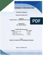 Perfil de Proyecto de inversión privada #3 Victor Manuel Zeron 2