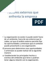 Factores Externos Que Enfrenta La Empresa