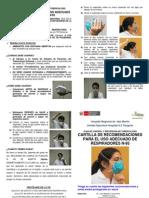 RECOMENDACIONES PARA EL USO ADECUADO DE RESPIRADORES N-95