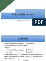 Integrasi Numerik