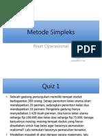 4 Metode Simpleks