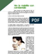 Prevenire le malattie con l'igiene ambientale