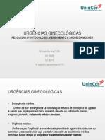 1- Urgêncis Ginecológicas