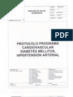 Protocolo Programa Cardiovascular, Diabetes Mellitus, Hi Per Tension Arterial