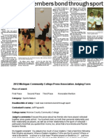 V-Ball Members Bond Through Sport - Jeff Papworth - Monroe CCC - Sports Feature Story