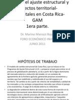 Análisis del ajuste estructural y aspectos territoriales espaciales en GAM
