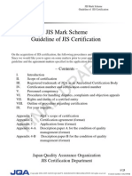 JIS Mark Scheme Guideline of JIS Certification