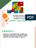 EJERCICIOS DE ACENTUACIÓN