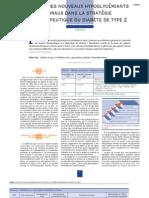 3-0820 place des nouveaux hypoglycémiants oraux dans la stratégie thérapeutique de dibète de type 2